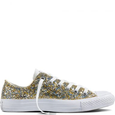 Chuck Taylor All Star Glitter White Gold grande taille