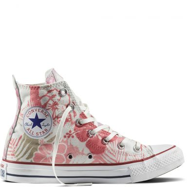 Chuck Taylor All Star Hawaiian Floral White Pink grande taille