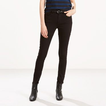 Levis 721 High Rise Skinny Jeans Black Sheep