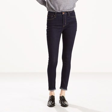 Levis 721 High Rise Skinny Jeans Lone Wolf