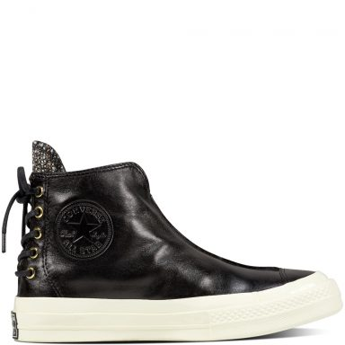 Chuck Taylor All Star '70 Leather and Shimmer Punk Boot Black grande taille