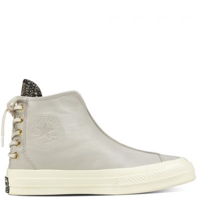 Chuck Taylor All Star '70 Leather and Shimmer Punk Boot White grande taille