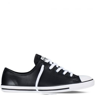 Chuck Taylor All Star Dainty Leather Black grande taille