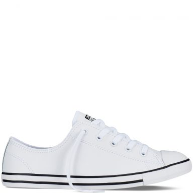 Chuck Taylor All Star Dainty Leather White grande taille