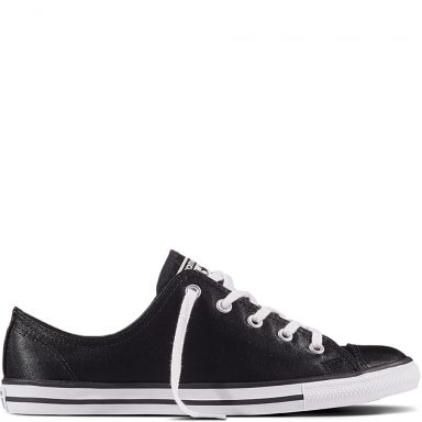 Chuck Taylor All Star Dainty Satin Black grande taille