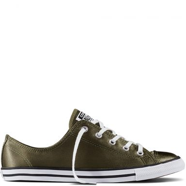 Chuck Taylor All Star Dainty Satin Green White grande taille