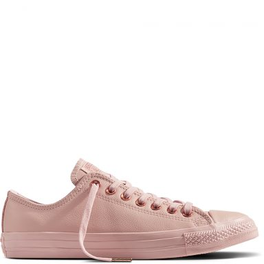 Chuck Taylor All Star Leather Pink grande taille