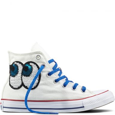 Chuck Taylor All Star Sequin Patchwork White grande taille