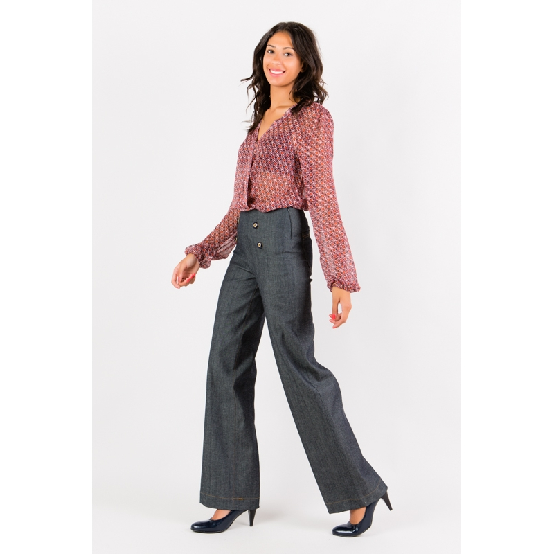 Jeans coupe pont Flamenzo - Femme grande