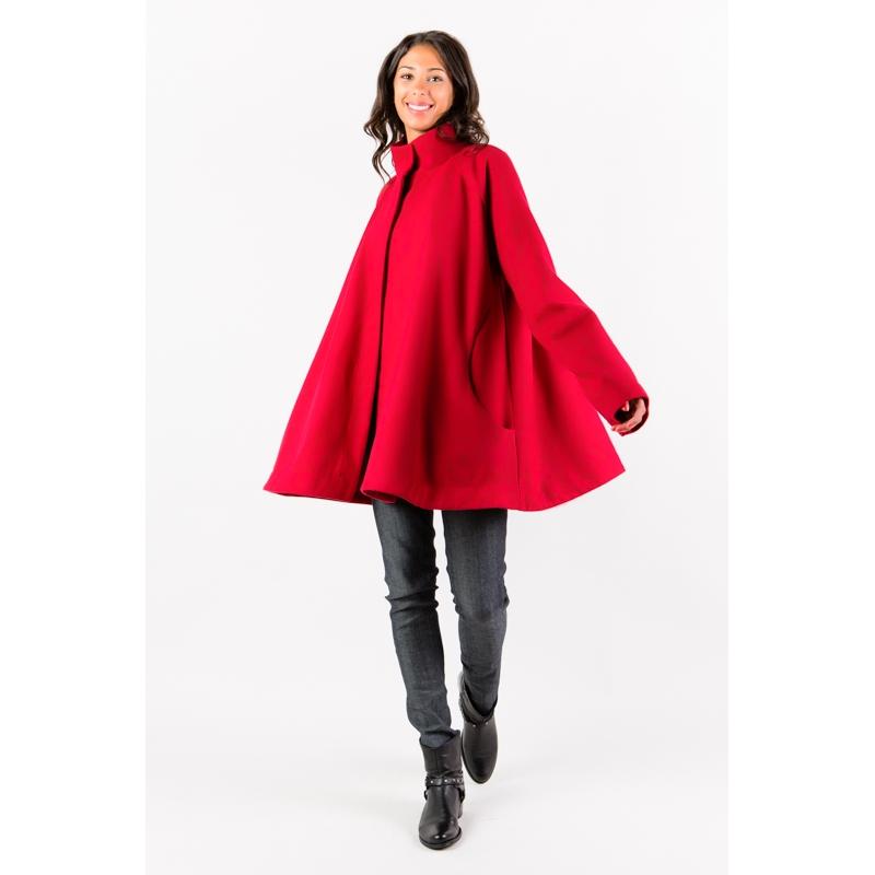 Manteau - Cape rouge Flamenzo - Femme grande