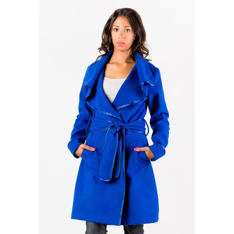 Manteau bleu royal Flamenzo - Femme grande