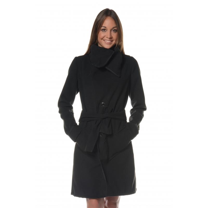 Manteau noir 3/4 Flamenzo - Femme grande