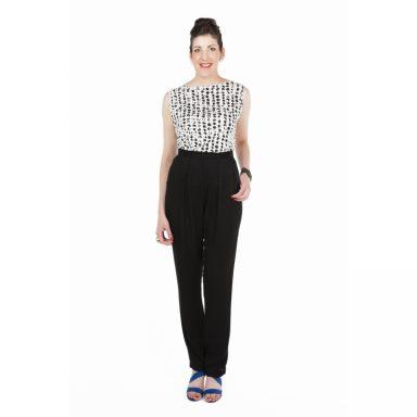 Pantalon cigarette noir Flamenzo - Femme grande