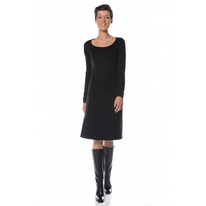 Robe noire col rond Flamenzo - Femme grande