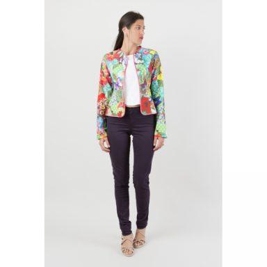 Veste cintrée multicolore Flamenzo - Femme grande