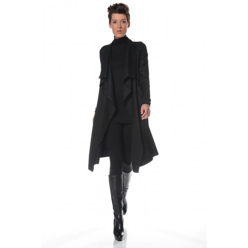 Veste fluide noir 3/4 Flamenzo - Femme grande