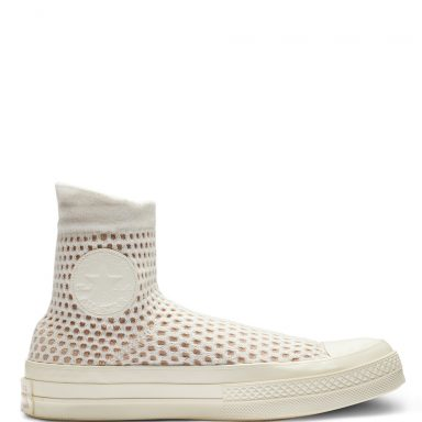 Chuck 70 High Top Egret/Natural/Egret grande taille