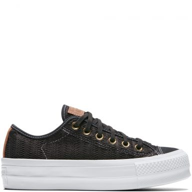 Chuck Taylor All Star Lift Herringbone Mesh Black grande taille