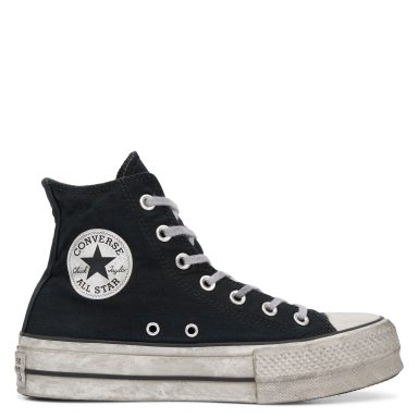 Chuck Taylor All Star Lift Smoked Canvas High Top Black Smoke In/Black grande taille