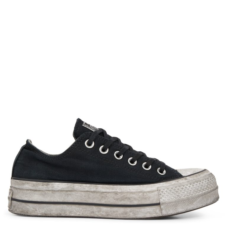 Chuck Taylor All Star Lift Smoked Canvas Low Top Black Smoke In/Black grande taille