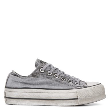 Chuck Taylor All Star Lift Smoked Canvas Low Top Grey grande taille