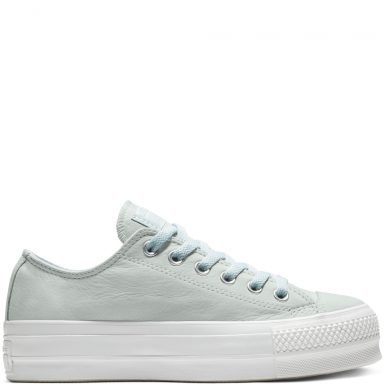 Converse Chuck Taylor All Star Clean Lift Low Top Blue Tint/White/White grande taille