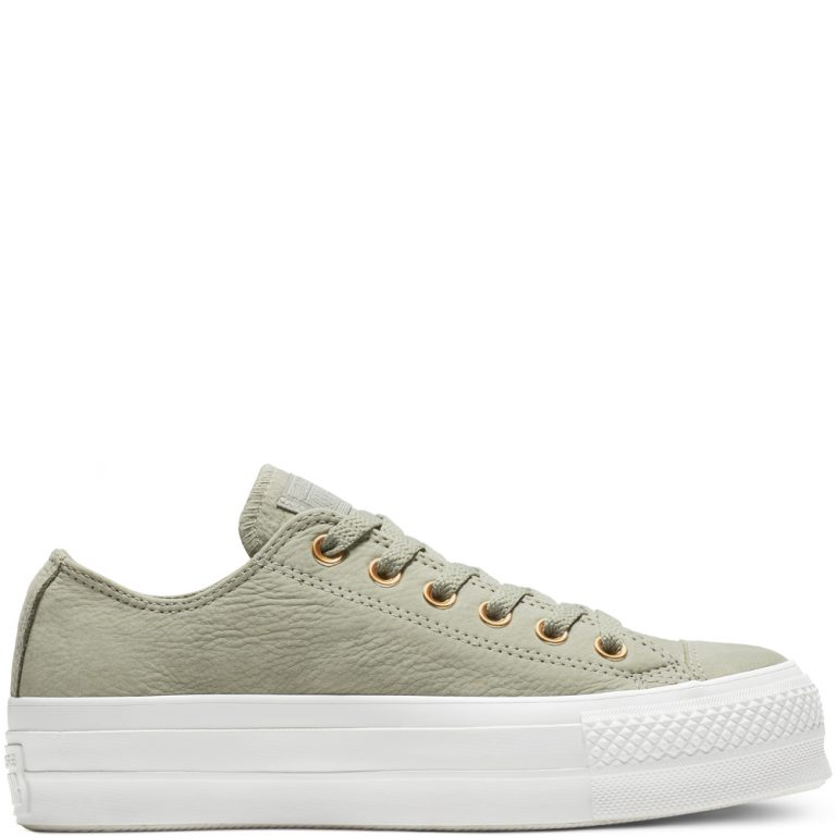 Converse Chuck Taylor All Star Clean Lift Low Top Dark Stucco/White/White grande taille