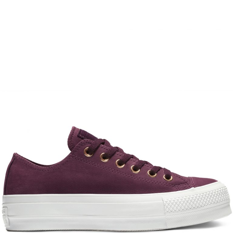 Converse Chuck Taylor All Star Clean Lift Low Top Red White grande taille