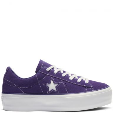 Converse One Star Platform Suede Low Top New Orchid/New Orchid/White grande taille