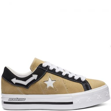 Converse x Made Me One Star Platform Low Top Wood Ash/White/Black grande taille
