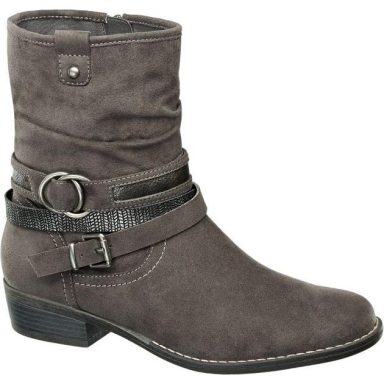 Bottines gris grande taille