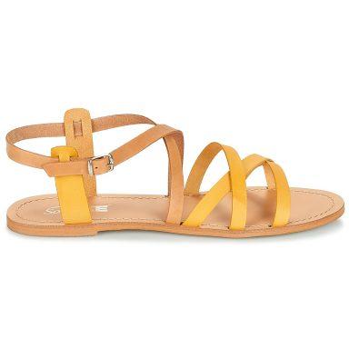 Sandales jaune grande taille IDITRON