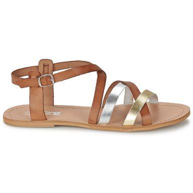 Sandales marron grande taille AVELA