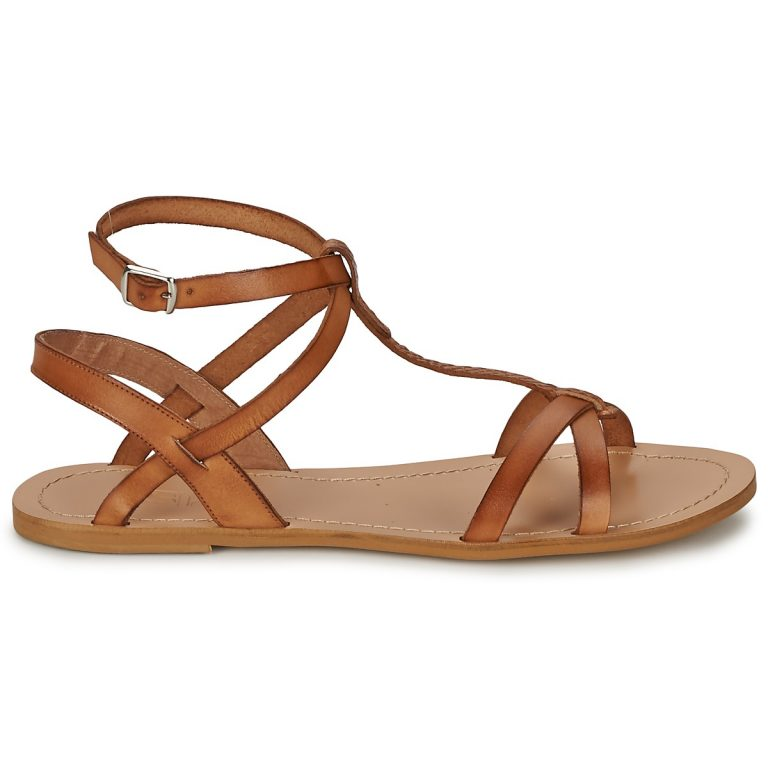 Sandales marron grande taille BEALO