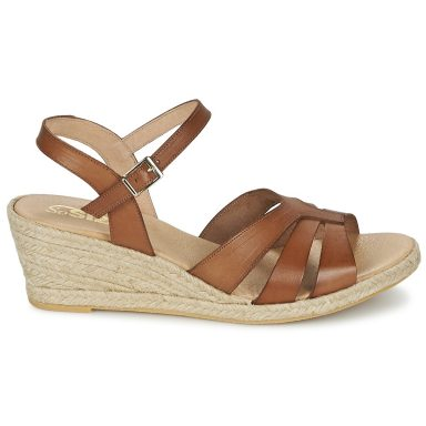 Sandales marron grande taille ELIZA