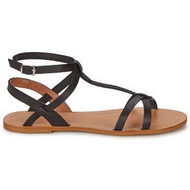 Sandales noir grande taille BEALO