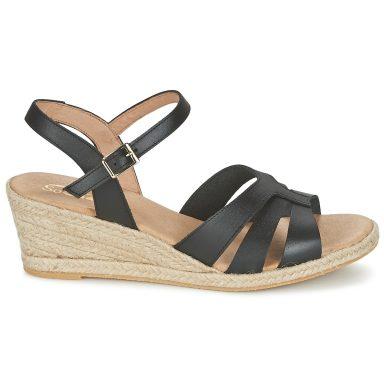 Sandales noir grande taille ELIZA
