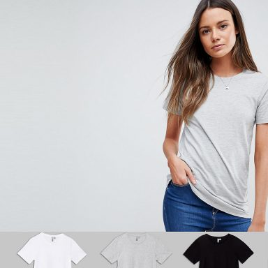Ultimate lot de 3 t-shirts ras de cou - Femme grande