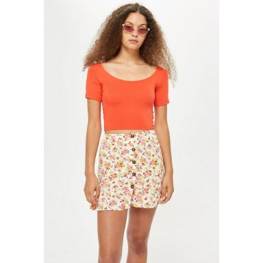 Top court orange - Femme grande