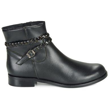 Boots noir grande taille OSCARDO