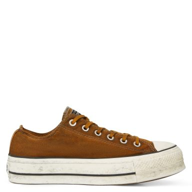 Chuck Taylor All Star Canvas Rust plate-forme à tige basse White/Rust Brick grande taille
