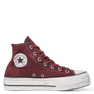 Chuck Taylor All Star Canvas Rust plate-forme à tige montante White/Rust Maroon grande taille