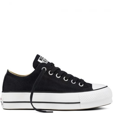 Chuck Taylor All Star Lift Canvas Low Top Black grande taille