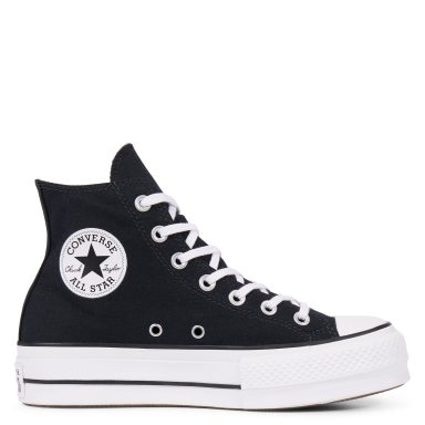Chuck Taylor All Star Lift High Top Black grande taille
