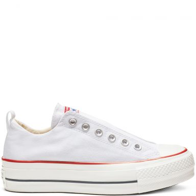 Chuck Taylor All Star Lift Low Top White Blue grande taille