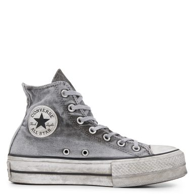 Chuck Taylor All Star Lift Smoked Canvas High Top Grey grande taille