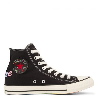 Chuck Taylor All Star Rainbow High Top Black grande taille