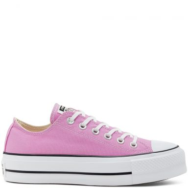 Chuck Taylor All Star Seasonal Color Platform à tige basse pour Femme Peony Pink/White/Black grande taille