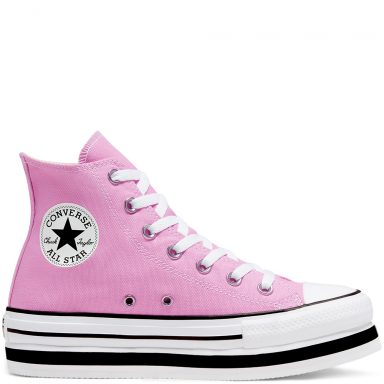 Everyday Platform Chuck Taylor All Star à tige montante Peony Pink/White/Black grande taille