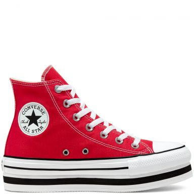 Everyday Platform Chuck Taylor All Star à tige montante University Red/White/Black grande taille
